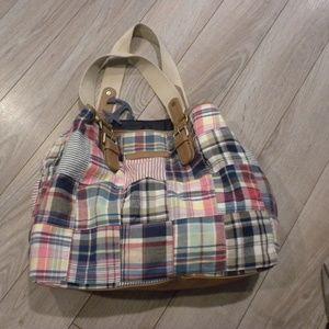 Tommy Hilfiger Plaid Patched Handbag